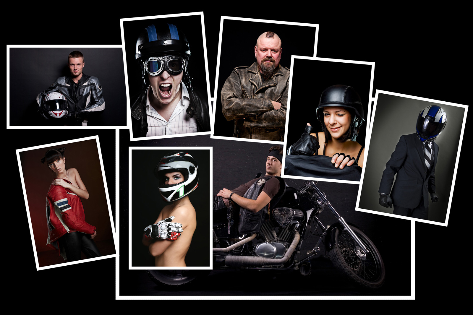 Image manipulation - bikers campaign 1 initial photos